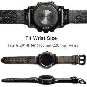 Image 3 - YOOSIDE 26mm 22mm מהיר Fit Vintage שעון עור אמיתי רצועת עבור Garmin Fenix 6X/5X בתוספת /Fenix 3/Forerunner 935/Fenix 5