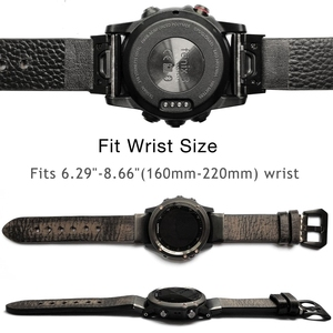 Image 3 - YOOSIDE 26mm 22mm rapide ajustement Vintage en cuir véritable bracelet de montre pour Garmin Fenix 6X/5X Plus/Fenix 3/Forerunner 935/Fenix 5