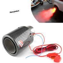 Auto Accessories LED light DIY for E30 E36 E46 E90 E91 E92 E93 F30 Car Styling Car Exhaust Pipe Muffler Tip Turbo Sound Whistle