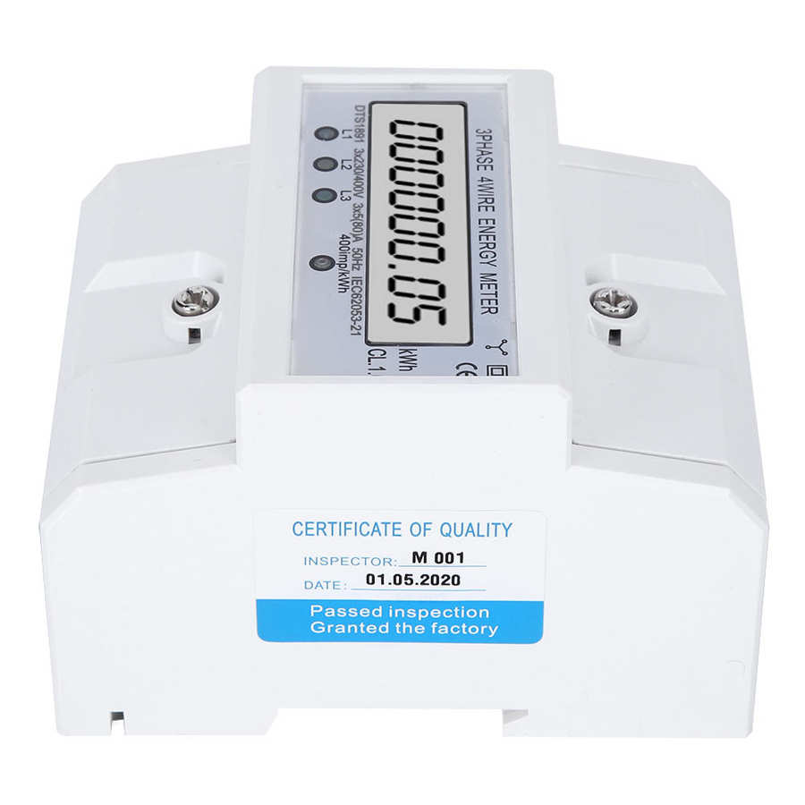 Energy Meter 3phase 4wire Lcd Digital Display Dts1891 Smart Home Electric Measurement Device Adjustable