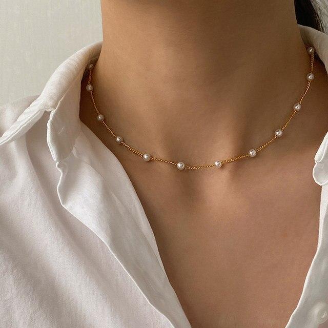 Pearl choker necklace or bracelet 2