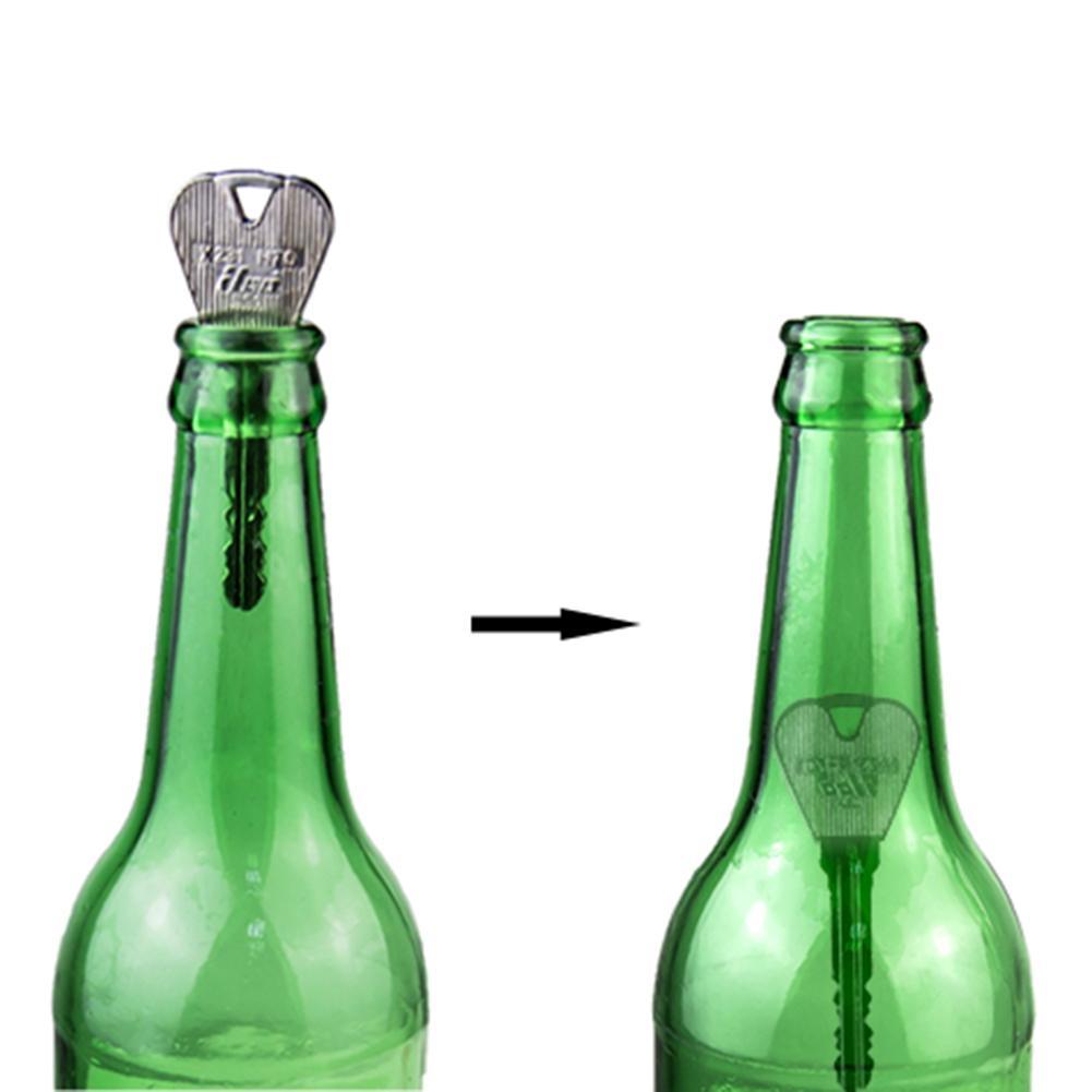Jouet de tour de magie en métal clé pliante à travers la bouteille ou lanneau en métal pénétration des accessoires de tour de magie blague magique jouet spectacle de magie accessoire