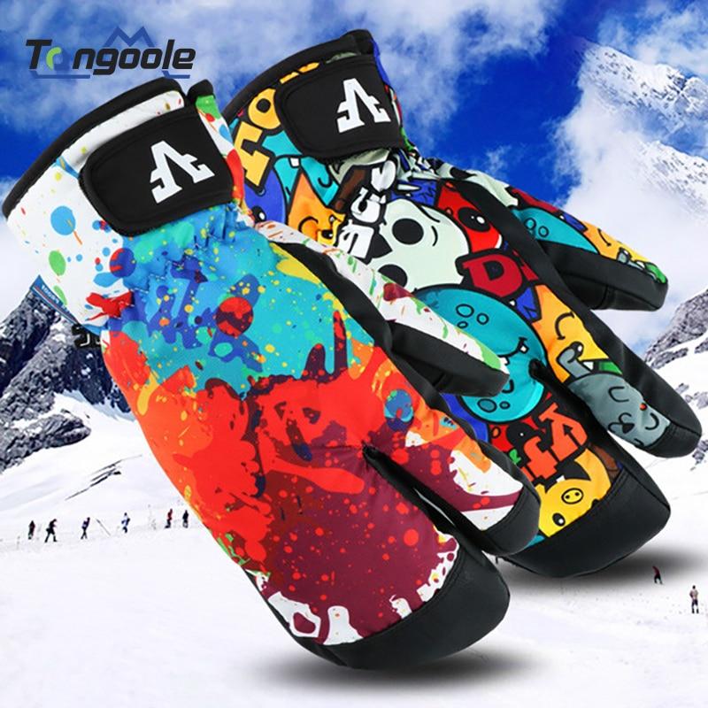 Men Women Kids Winter Warm Snowboarding Ski Gloves Snow Mittens Waterproof Cycling Skiing Snowmobile Handschoemen S M L XL
