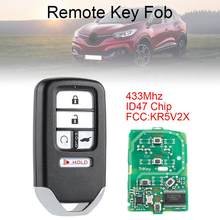433Mhz Fsk Suv 5 Knoppen Smart Keyless Auto Remote Fob Met ID47 Chip KR5V1X Fit Voor Honda Piot CR-V civic 2016 2017 2018 2019(China)