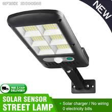 Cob ao ar livre solar led luz de rua lâmpada parede à prova dwaterproof água pir sensor indução humana jardim industrial quadrado estrada lâmpada
