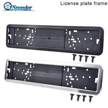 Frame Number-Plate-Holder License-Plate Plastic European Car Fit with 4-Screws ESPEEDER