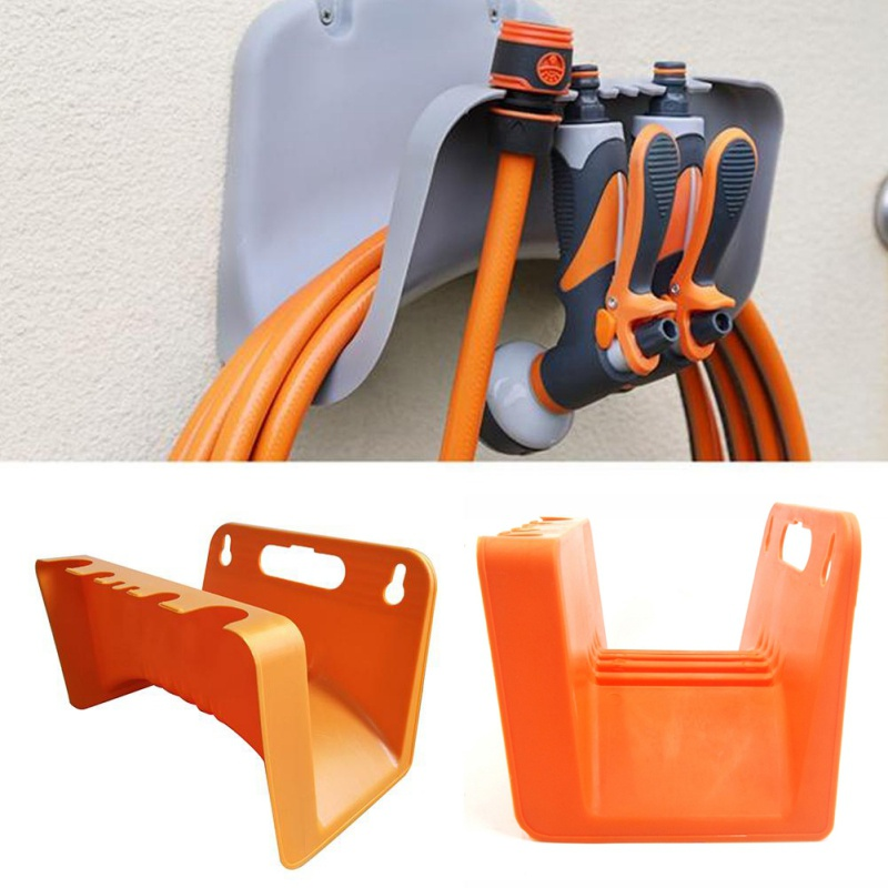 Wall Mounted Hose Pipe Hanger Storage Shed Fence Cable Holder Garden Supply Welc