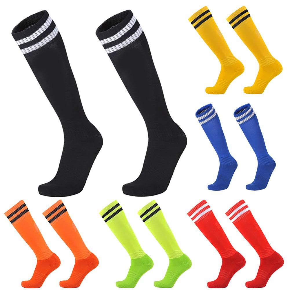 1Pair Anti-Slip Sports Socks Knee Legging Stockings Baseball Soccer Football Over Knee Ankle Long Tube Socks For Adults Children