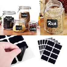 32pcs Glass Jar Bottle Sticker Chalkboard Lables Home Kitchen Jars Sticker Blackboard