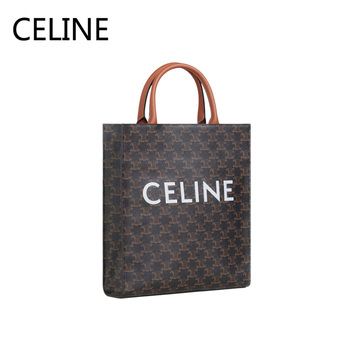 цена CELINE Luxury Vertical Cabas Bags Triomphe Canvas Two Handles Handbag Adjustable Leather Shoulder Strap For Women 191542CIM.30RD онлайн в 2017 году