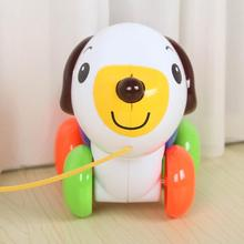 Kids Baby Dog Toy Cute Robot Dog Puppy Car Pull Along Animal with Leash Baby Learning Walking Early Educational Toy
