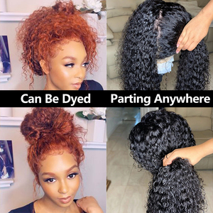 Image 5 - Full Lace Human Hair Wigs Fake Scalp Glueless Brazilian Deep Curly Transparent HD 30 Inch Full Lace Wig 250 Density Bob You May
