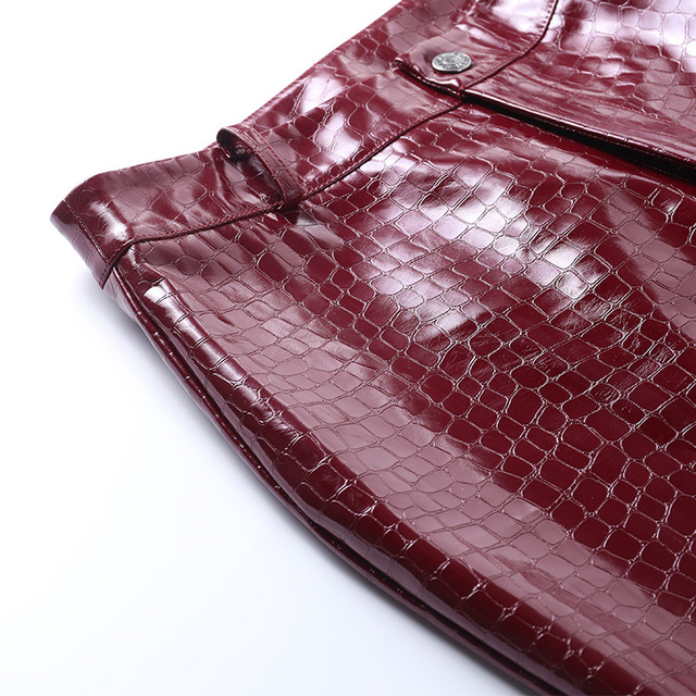 Goth PU leather pants in red