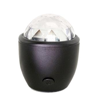 USB kryształowa magiczna kula Flash światła dj-skie kula dyskotekowa Party Stage lampa projekcyjna Mini Led aktywowana głosem dla domu KTV Car tanie i dobre opinie REFURBISHHOUSE NONE CN (pochodzenie) light 90-240 V Profesjonalne stage dj