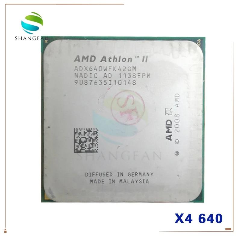AMD Athlon II X4 640 DeskTop CPU Socket AM3 938 ADX640WFK42GM ADX640WFK42GR ADX640WFGMBOX
