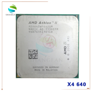 AMD Athlon X4 640 X4-640 3GHz Quad-Core CPU Processor ADX640WFK42GM ADX640WFK42GR 95W Socket AM3 938pin