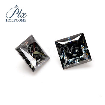 8X8MM GREY  PRINCESS CUT MOISSANITE VVS1 MOISSANITE RING FOR JEWELRY MAKING PRICE PER CARAT 2020NEWEST WUZHOU HOLYCOME