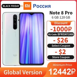 Global Version Xiaomi Redmi Note 8 Pro 6GB 128GB Mobile Phone 64MP Quad Camera NFC 4500mAh Helio G90T 6.53
