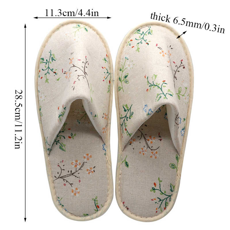 Kadın ayakkabı tek kullanımlık terlik seyahat Spa keten terlik yıkanabilir kaymaz rahat kat yatak odası ayakkabı Unisex terlik