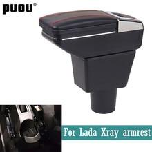 Para lada xray caixa de apoio braço universal carro central caixa armazenamento com suporte copo cinzeiro modificação carregamento usb accessori