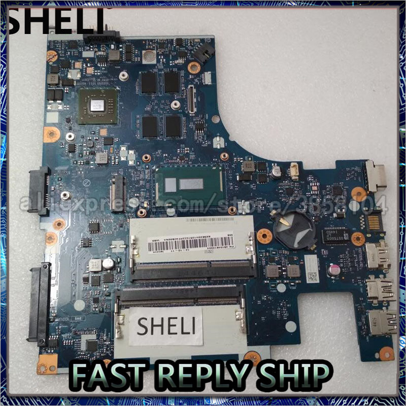 SHELI For Lenovo G40-80 Motherboard with I5-5200U ACLU3 ACLU4 <font><b>NM</b></font>-<font><b>A361</b></font> 5B20H12572 image