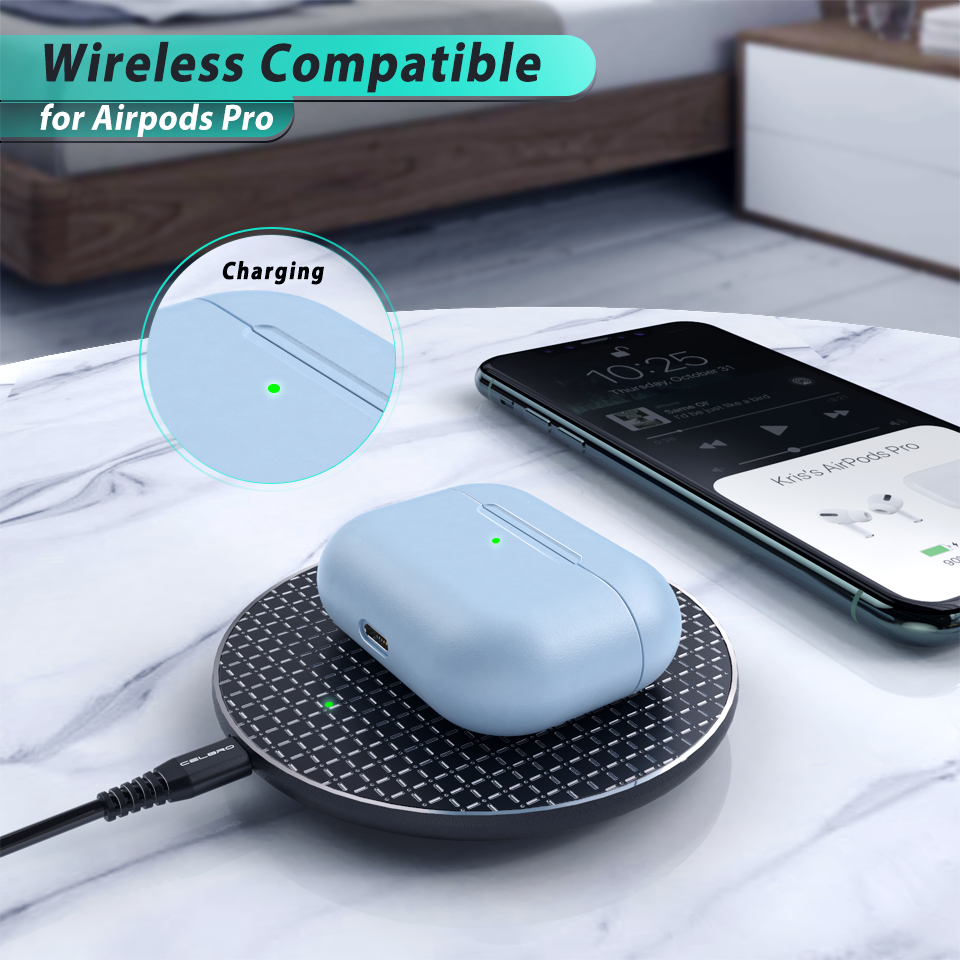 Solid Soft Silicone Case for AirPods Pro 1
