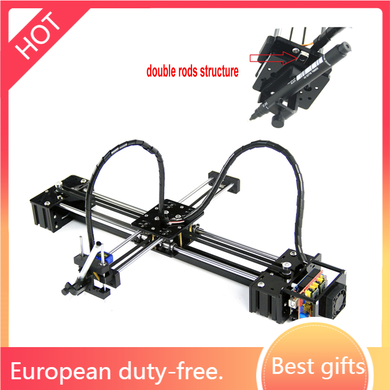 DIY drawbot pen lettering corexy XY-plotter drawing robot writing machine CNC V3 shield toys 2 stepper motor with uno controller