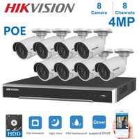 Hikvision 8Channels POE NVR Video Surveillance Kits with 4MP IP Camera  Netwerk Security Night Vision CCTV Security System Kits