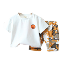New Summer Baby Girl Clothes Suits Children Boys Cotton T Shirt Shorts 2Pcs/sets Toddler Fashion Costume Infant Kids Tracksuits korean girl fashion summer letter printed kids petal sleeves t shirt shorts suits pretty girl clothes