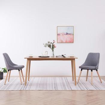 2 szt Nowoczesne krzesła do jadalni estetycznie i ergonomicznie zaprojektowane do salonu krzesła do jadalni tkanina wysokiej jakości krzesła tanie i dobre opinie vidaXL 800mm Jadalnia meble pokojowe 43 x 43 x 83 cm (W x D x H) Europa i ameryka Jadalnia krzesło 283625 283627 283631 283632