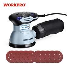 Шлифовальный станок workpro 300 Вт с регулируемой скоростью