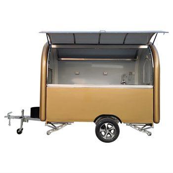 custom blue food truck mobile food trailer Brown Mobile Food Trailer Food Truck Catering Van