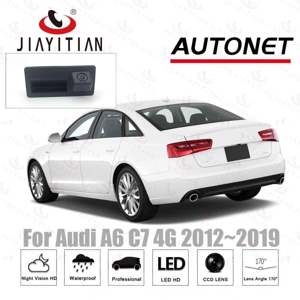 JIAYITIAN Rear View Camera For Audi A6 C7 4G 2012 2013 2014 2015 2016 2017 Ccd Trunk Handle Camera Backup Parking Camera Reverse