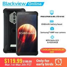 Blackview BV6600 IP68 wodoodporny smartfon 4GB + 64GB 8580mAh wytrzymały telefon komórkowy z NFC 5.7