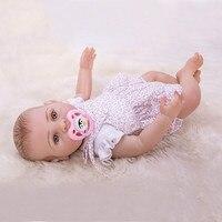 43 cm Vinyl Reborn Baby Dolls Lifelike Newborn Babe Adorable Gifts Kids Accompany Presents Children Stuffed Doll Toys for Girls