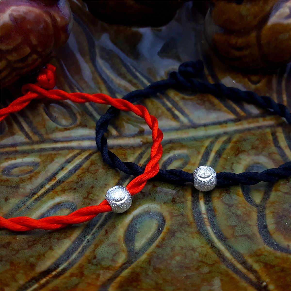 هدية صغيرة مصنعين الجملة حبل أحمر عشاق سوار 925 الفضة لكل الحياة الأحمر اليد حبل هدية هدية صغيرة