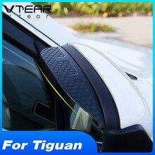 Vtear для Tiguan, аксессуары для автомобиля, зеркало заднего вида, дождь, бровь, углеродное волокно, солнцезащитный козырек, защита от дождя