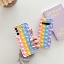 Sevimli aşk kalp küçük silikon kapak Samsung S21 Ultra S20 S9 S10 artı not 9 10 20 Ultra yumuşak coque renkli telefon kılıfları