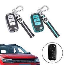 For VW Volkswagen Bora Lavida plus Sagitar Lamando Jetta Passat Polo Tiguan Gran Lavida 3 Button Key Case for Car Car Key Shell