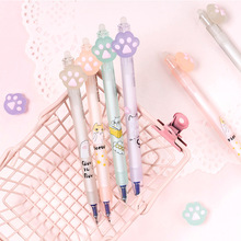 1Pcs 0.5mm Cat Claw Erasable Gel Pen Set Signature Pen Escolar Papelaria School Office Supply Promotional Gift