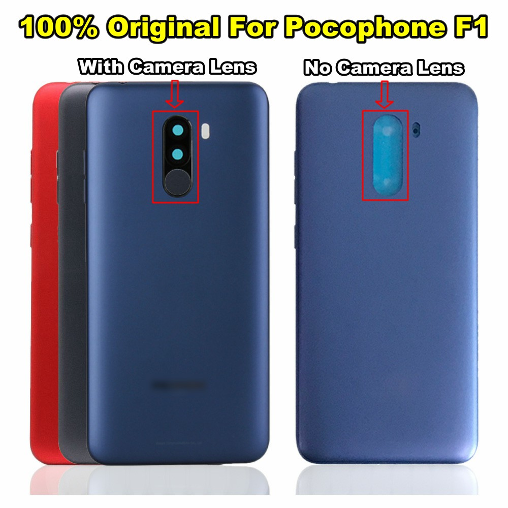 Original For Xiaomi PocoPhone F1 Battery Cover Back Housing Rear Door Case For Xiaomi Pocophone F1 Battery Cover Replacement