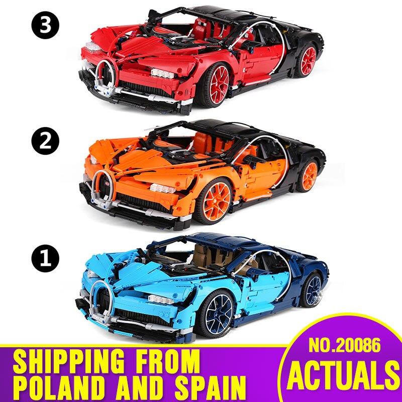 سفينة من اسبانيا 20086 بولي سباق مجموعة سيارة تكنيك سلسلة 42083 سيارة نموذج اللعب بناء كتل الطوب الأطفال هدايا عيد الميلاد-في حواجز من الألعاب والهوايات على  مجموعة 1