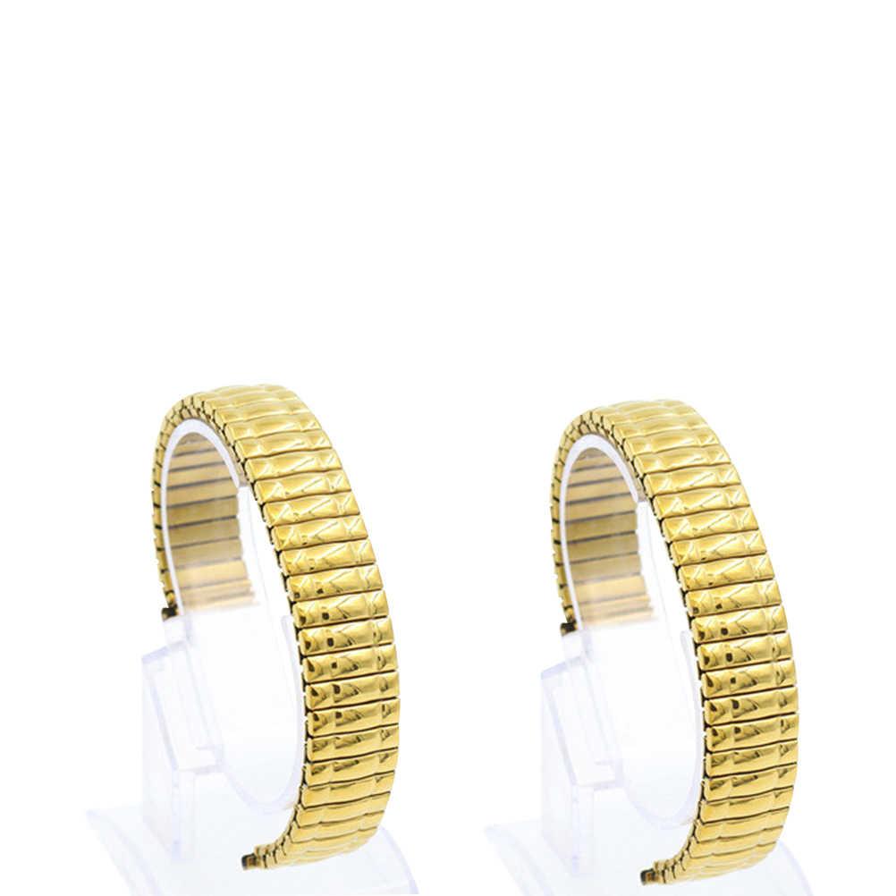1PC Uhr Strap Elastische Edelstahl Armband für Männer Ehemann freund