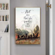 Fantasy Literature Movie J.R.R. Tolkien Quotes Oil Canvas Painting Posters and Prints Wall Art Picture for Living Room Cuadros