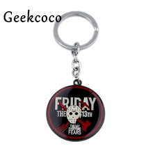 Friday the 13th punk horror Key Buckle Fashion Keychain Handmade Car Man Woman Bag Charm Pendant Accessories J0524