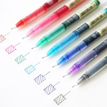 JIANWU 7 sztuk zestaw kolorowe prosto płynny długopis żelowy artystyczne czcionki kreatywny neuter pen Business School materiały biurowe tanie i dobre opinie 7 kolory 412485 7 kolory box Art marker Luźne