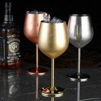 Calice da cocktail a strato singolo placcato in rame in acciaio inossidabile 304 bicchiere da vino da 500 ml bicchiere da champagne