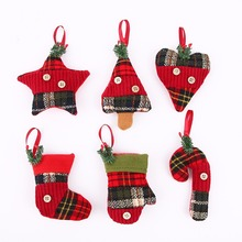 Creative Christmas Socks Cane Tree Decorative Pendant Home Party Hanging Ornaments Children Gift