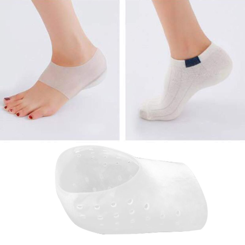 Silicone Invisible Inner Height Insoles Men Women Heel Cushion Hidden Insole