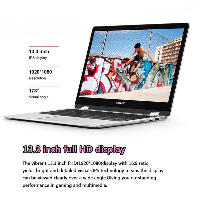 Teclast F6 برو دفتر نتبووك ويندوز 10 محمول إنتل M3-7Y30 8GB RAM 128GB SSD 13.3 بوصة 1920*1080 FHD IPS USB3.0